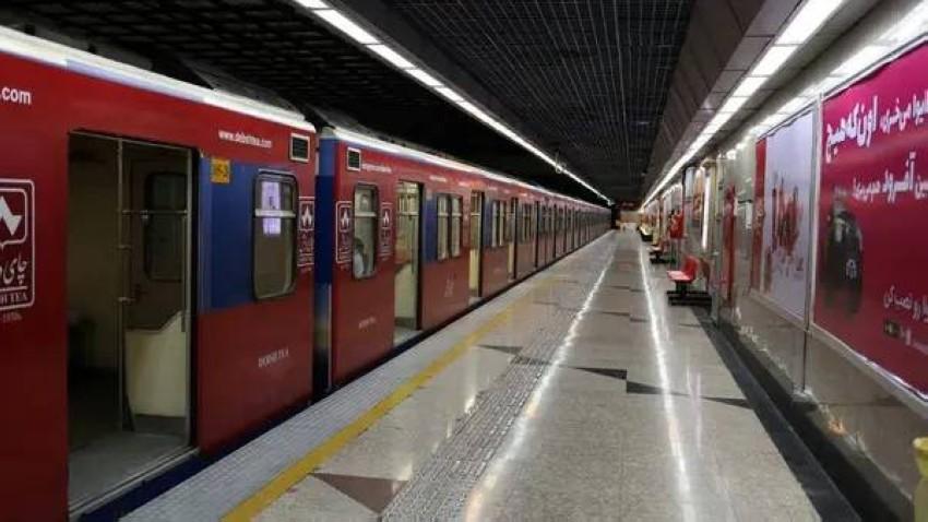 محطة مترو في طهران. (رويترز)