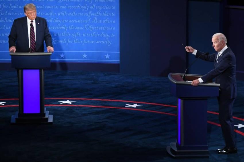 المناظرة الأولى بين ترامب وبايدن - أ ف ب