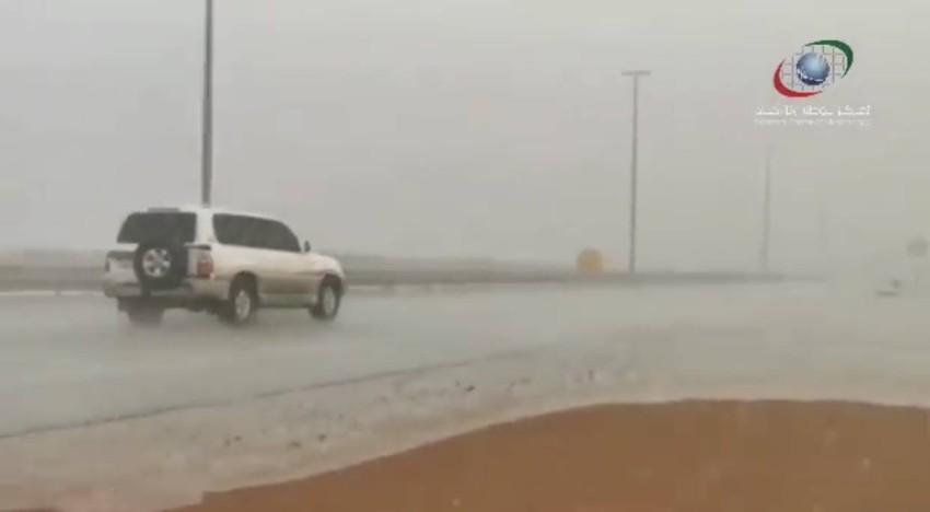 هطول الأمطار على الشارقة.