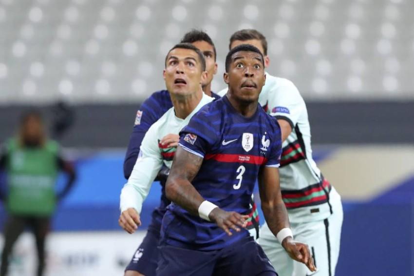 من مباراة فرنسا والبرتغال. (أ ب)