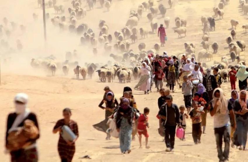 نازحون من إقليم سنجار. (رويترز - أرشيفية)