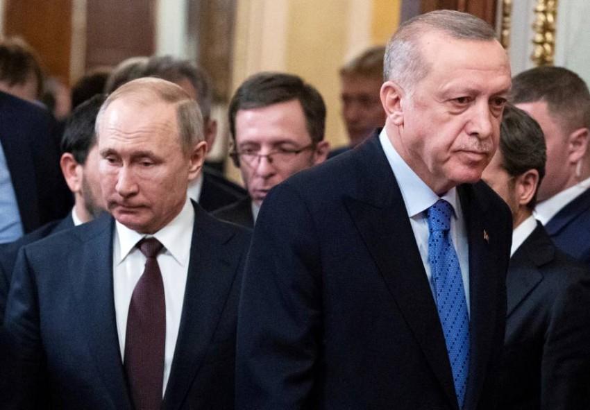 أردوغان مع بوتين في موسكو. (أرشيفية)