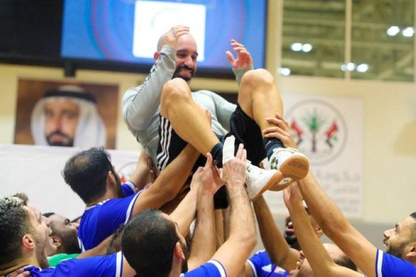 فرحة النصر باللقب. (من المصدر)