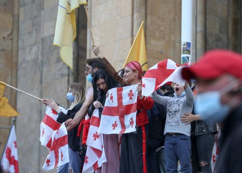 احتجاجات في جورجيا - رويترز