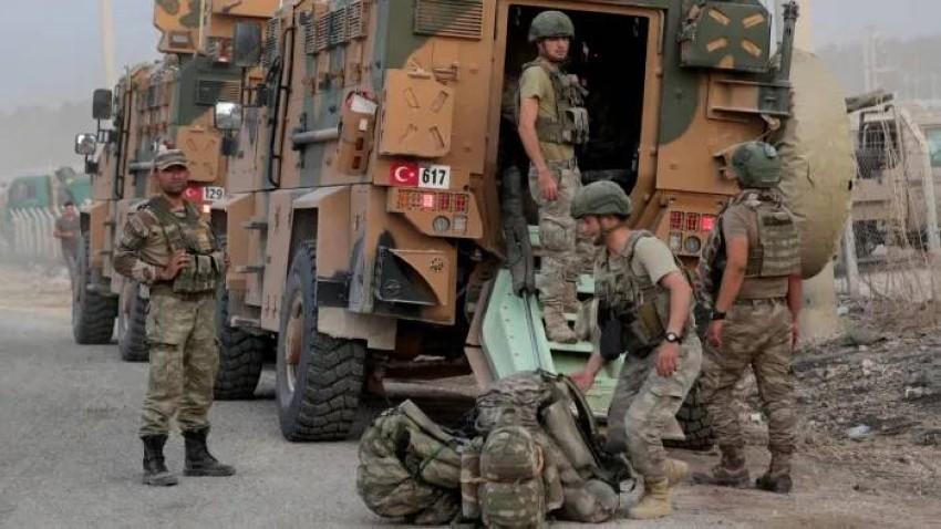 عناصر من القوات التركية في سوريا. (رويترز)