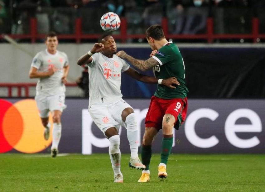 ديفيد ألابا لاعب بايرن ميونيخ خلال دوري أبطال أوروبا. (رويترز)