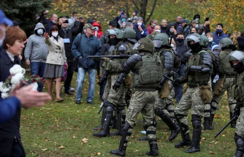 الاحتجاجات في بيلاروسيا - رويترز