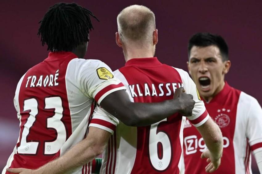 فريق أياكس أمستردام. (إ ب أ)
