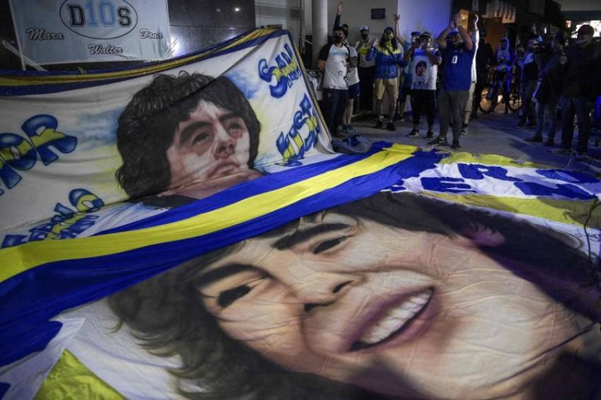 مشجعو مارادونا. (AFP)