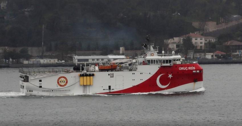سفينة التنقيب التركية «عروج ريس». (رويترز)