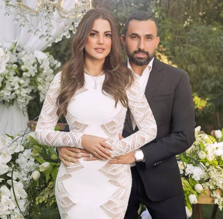 درة وزوجها هاني سعد.