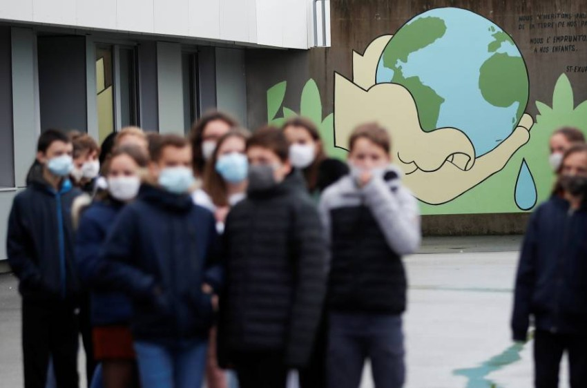 إحدى المدارس في فرنسا. (رويترز)
