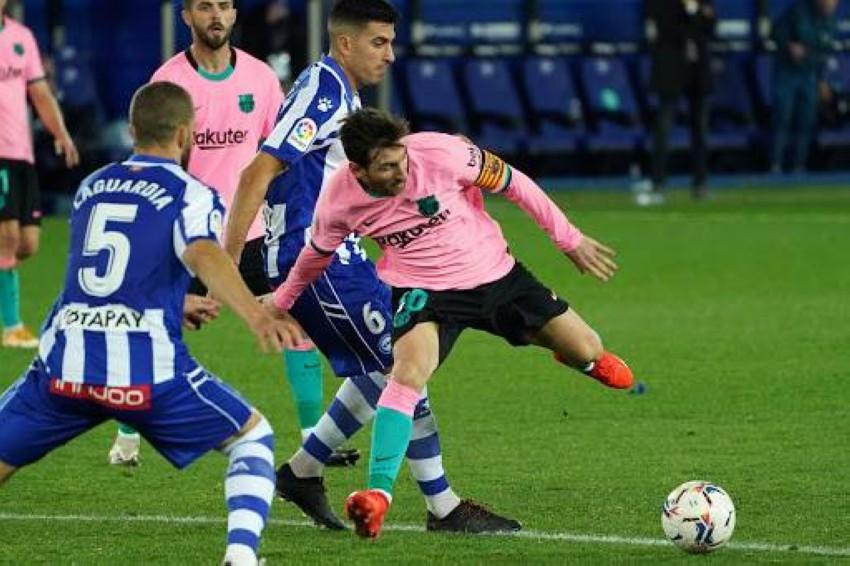 ألافيس لعب أمام برشلونة أخيراً. (غيتي)