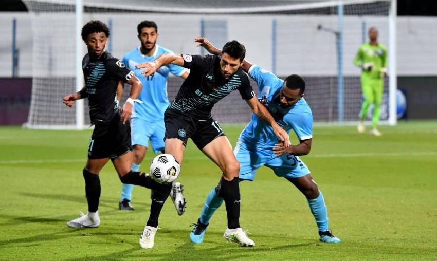 من مباراة النصر وحتا. (من المصدر)