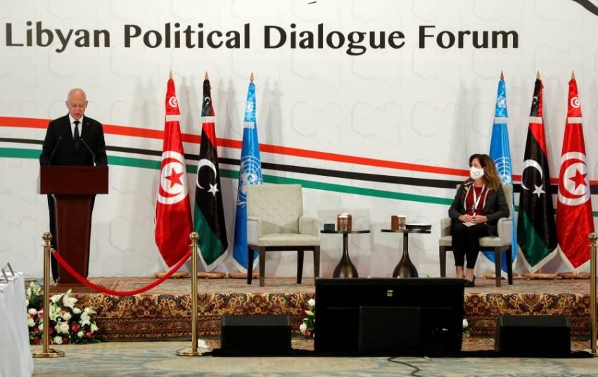 الرئيس التونسي يفتتح مؤتمر الحوار الليبي. (رويترز)