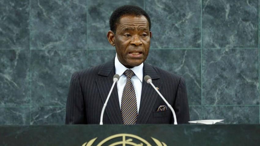 رئيس غينيا الاستوائية تيودورو أوبيانغ نغيما مباسوغو. (أ ف ب)