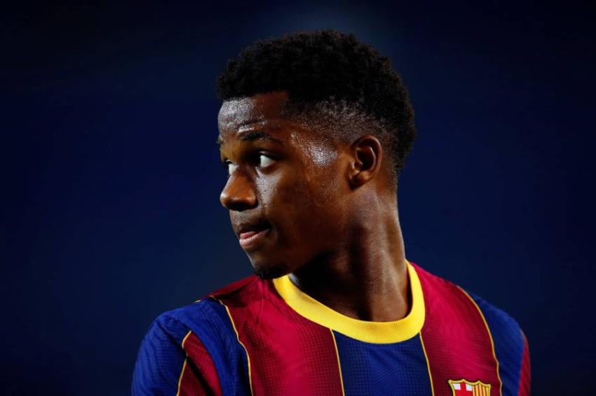 أنسو فاتي لاعب برشلونة. (إ ب أ)