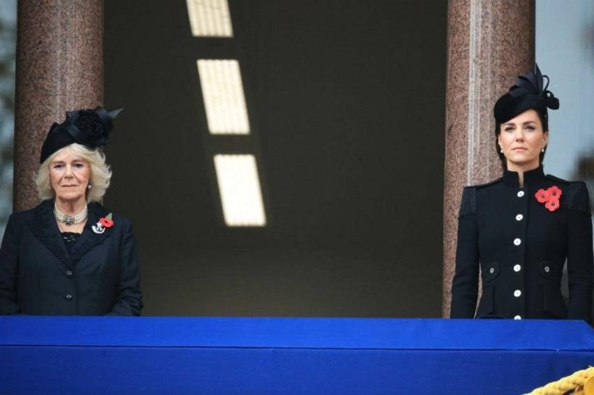 كيت ميدلتون دوقة كابريدج وكاميلا دوقة كورنوال.
