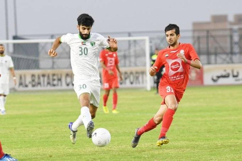 من مباراة الإمارات والبطائح. (الرؤية)