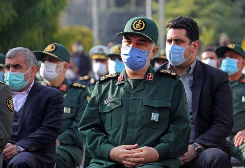 مقتل قائد بالحرس الثوري الإيراني في ضربة جوية على حدود سوريا والعراق - أ ف ب