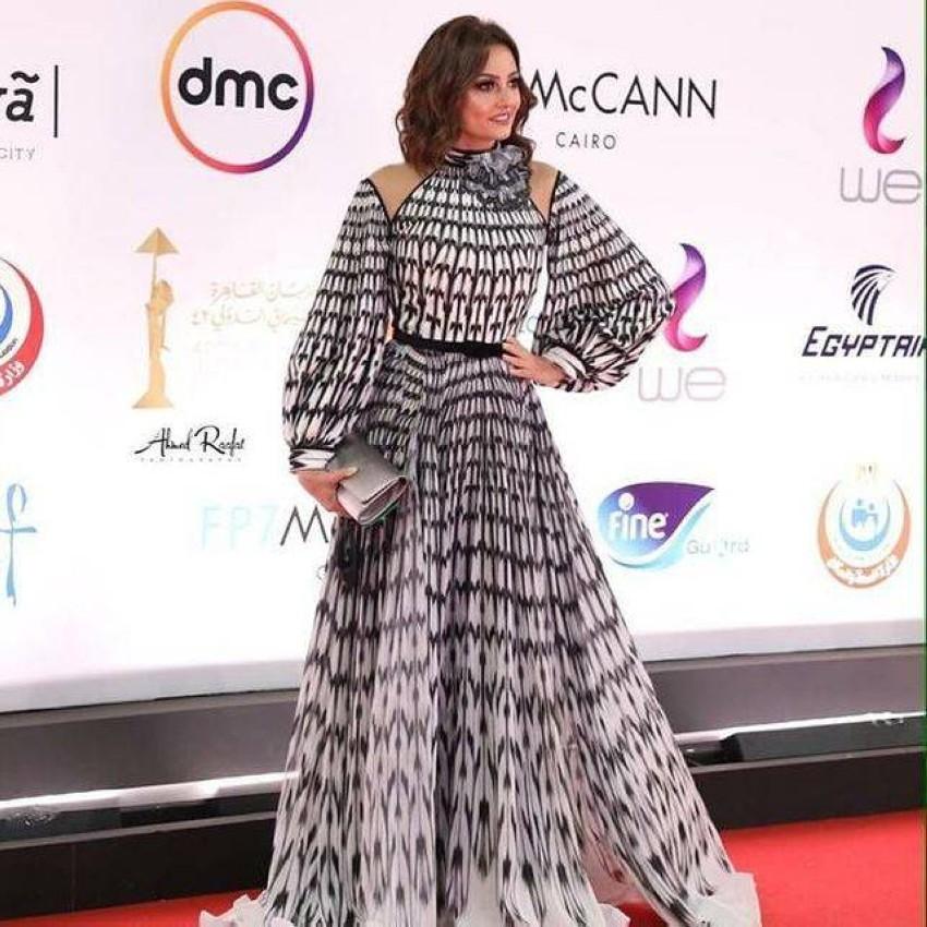 بشرى بفستان من فؤاد ساركيس.