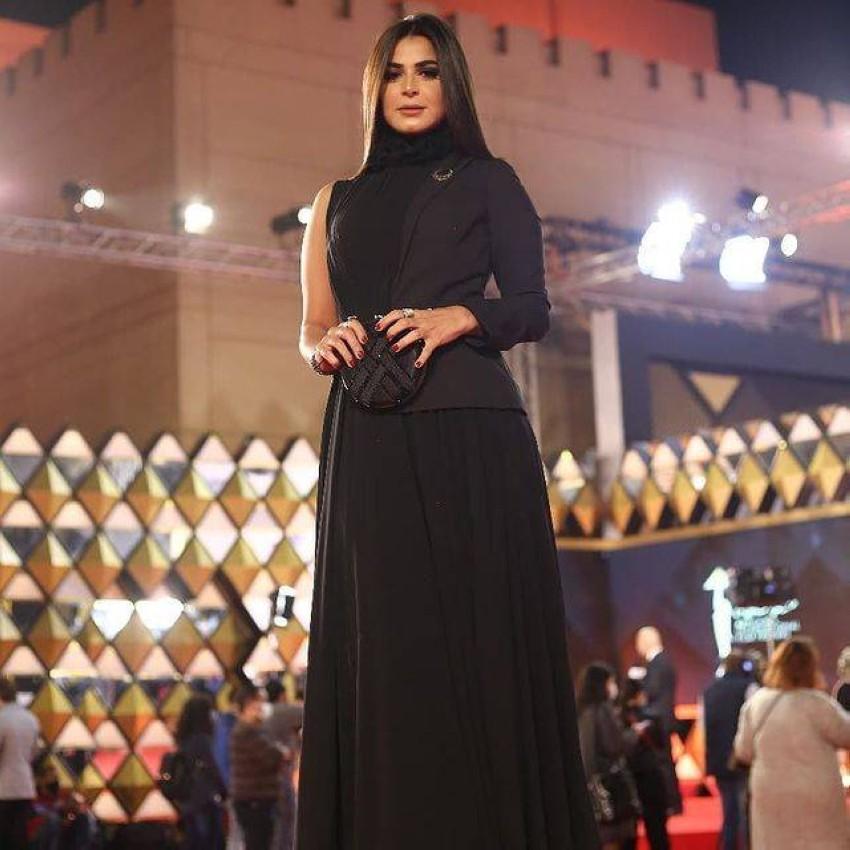 رانيا منصور بالعرض الخاص لفيلم عمار باليوم الرابع من مهرجان القاهرة.