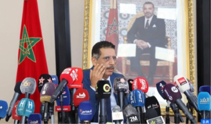 عبدالحق الخيام، المدير السابق للمكتب المركزي للأبحاث القضائية، في ندوة صحفية بمقر المركز.
