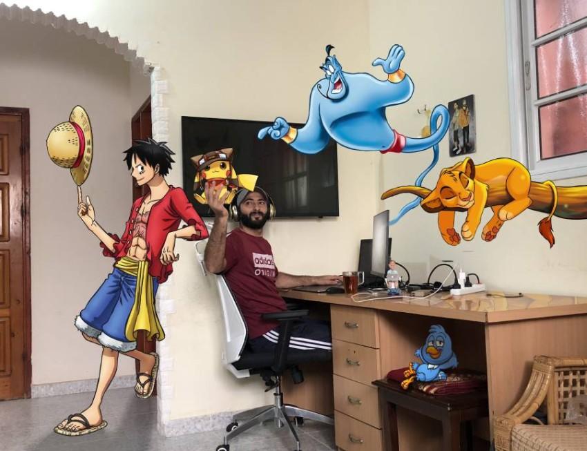 أحمد والكائنات الكرتونية.