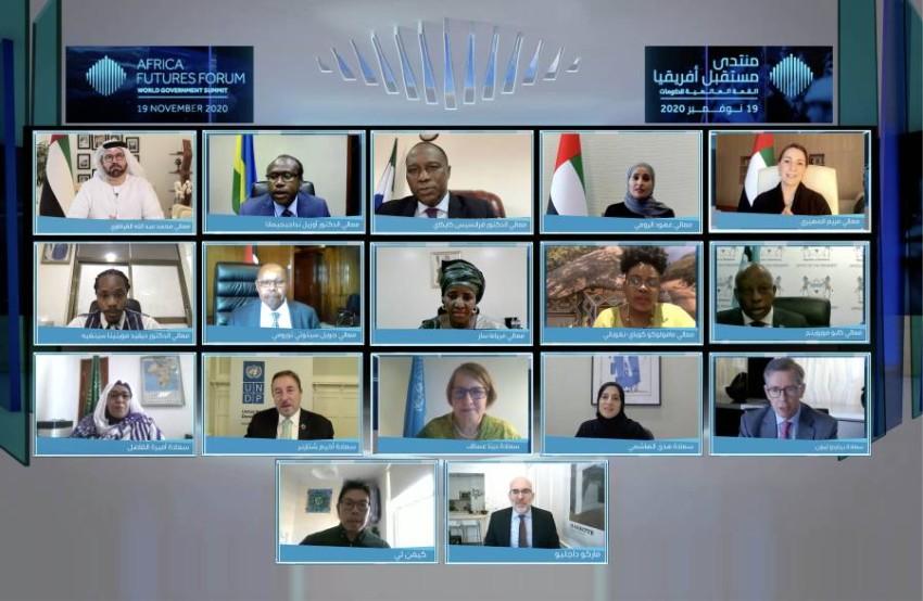 وزراء من الإمارات والقارة الإفريقية ومسؤولون دوليون خلال مشاركتهم. (من المصدر)