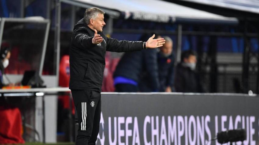 أولي غونار سولشاير مدرب مانشستر يونايتد أمام لايبزيغ. (غيتي)