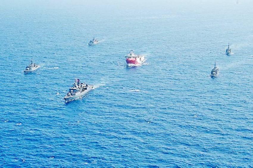 سفينة التنقيب التركية «عروج ريس». (أ ب)