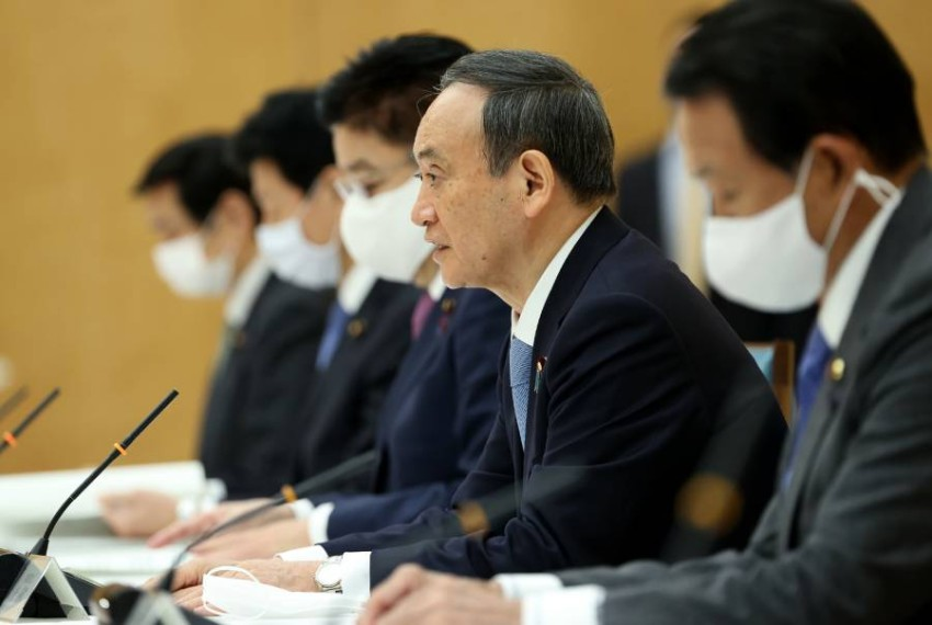رئيس الوزراء الياباني. (أ ف ب)
