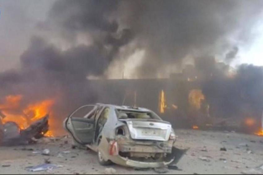 موقع لانفجار سيارة ملغومة في تفجير سابق بسوريا. (رويترز - أرشيفية)