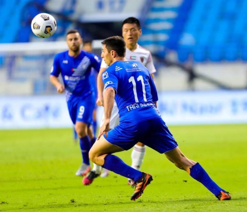 تيغالي خلال مباراة النصر والوحدة. (من المصدر)