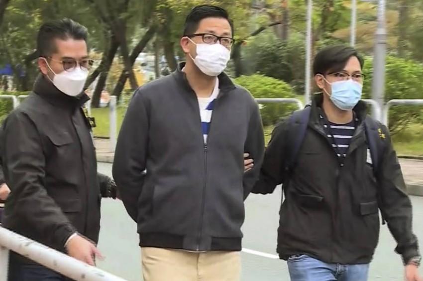 أكبر عملية اعتقال جماعي بموجب قانون الأمن القومي في هونغ كونغ. (أ ب).