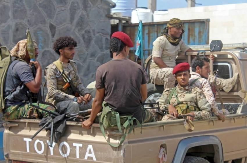 أفراد من القوات الأمنية في عدن. (أ ف ب)