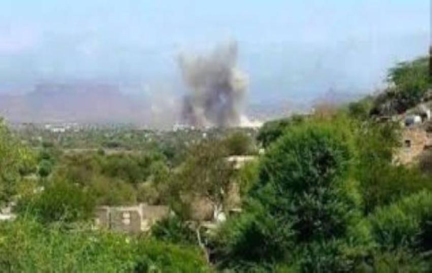 صورة متداولة لآثار المعارك في منطقة الحيمة.