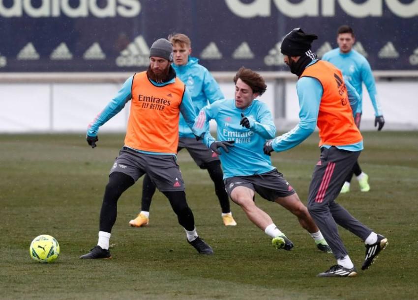 تدريبات ريال مدريد. (الموقع الرسمي لريال مدريد)