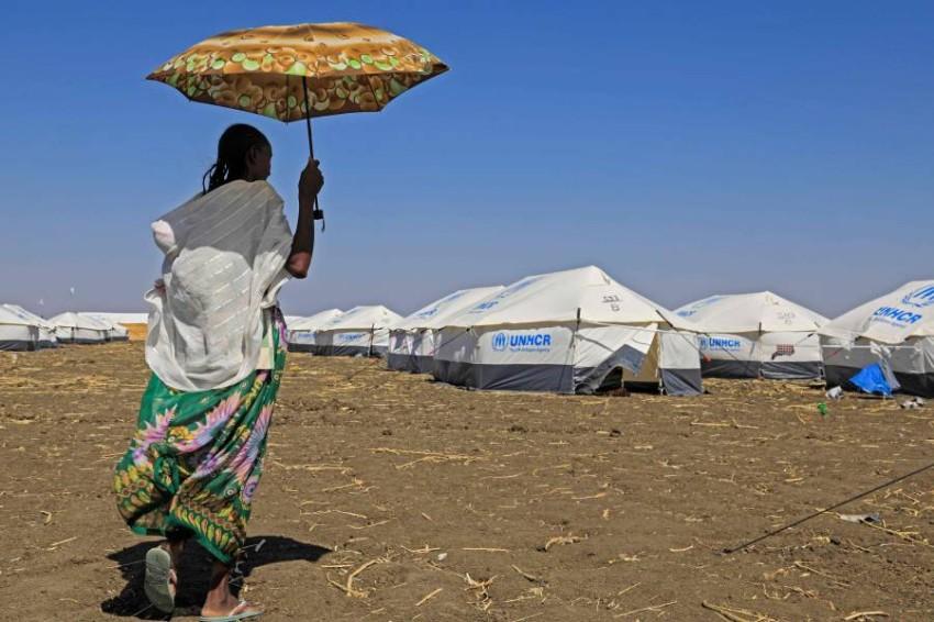 لاجئة إثيوبية من تيغراي. (أ ف ب)