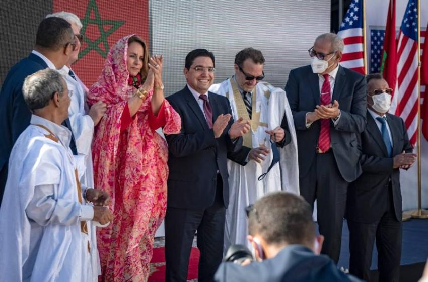 وفد الزيارة الأمريكية في الصحراء المغربية - أ ف ب.