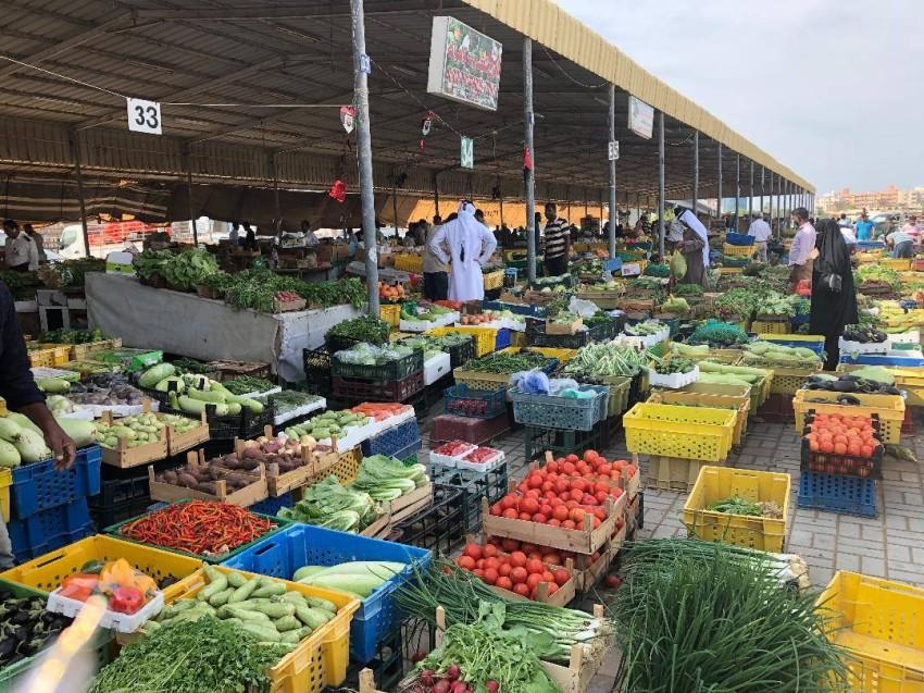 جانب من سوق الخضراوات والفواكه