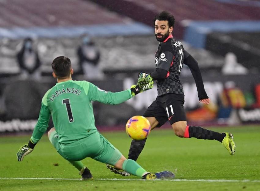 محمد صلاح واصل التوهج مع ليفربول. (رويترز)