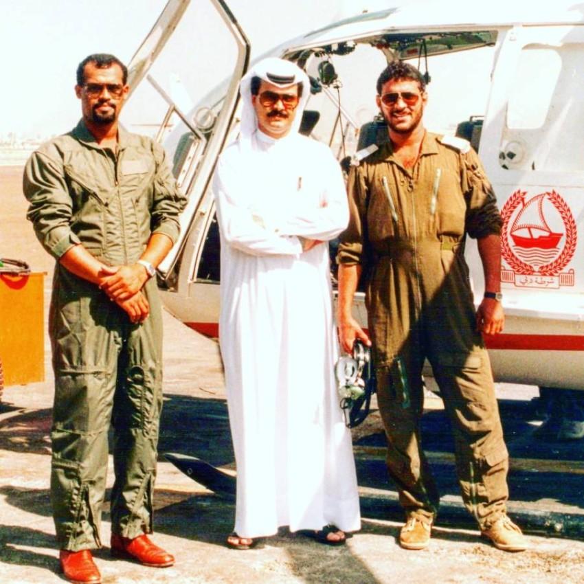مع العميد طيار متقاعد جمال المري وزيد الصابوني 1987