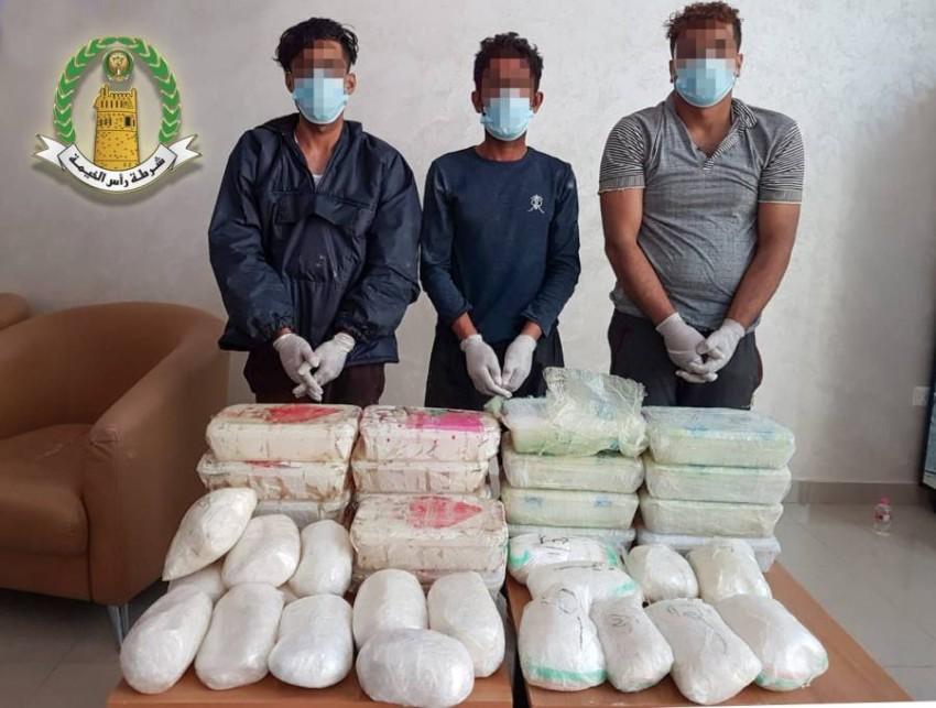 المخدرات المضبوطة تبلغ قيمتها السوقية 25 مليون درهم. (من المصدر)