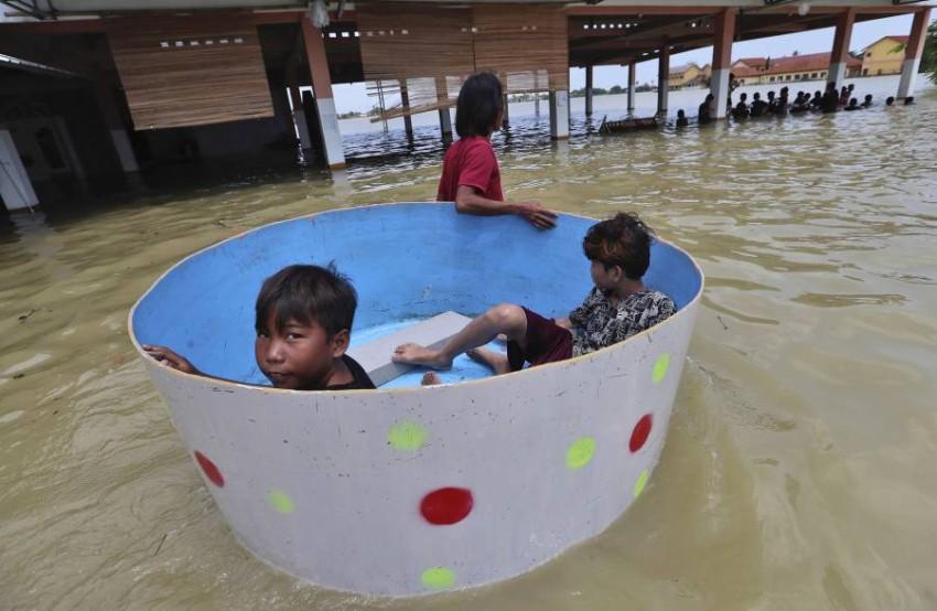 مياه الفيضانات غمرت منطقة بيكاسي. (أ ب)