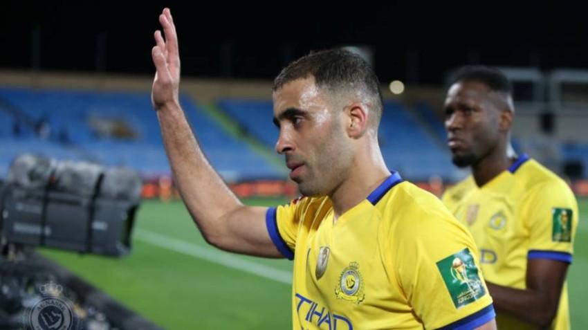 المغربي عبدالرزاق حمدالله لاعب النصر السعودي. (الحساب الرسمي للدوري السعودي)
