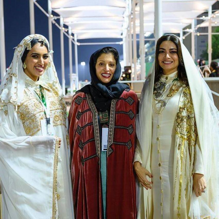 هنيدة الصيرفي والأميرة نورة بنت فيصل والمذيعة هيفاء المامي