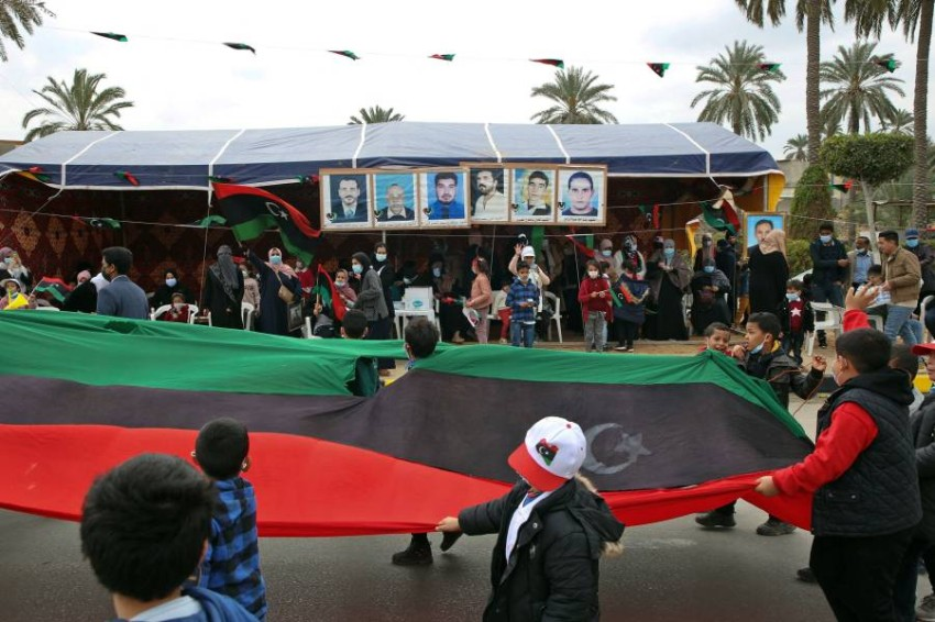 البرلمان الليبي يصوت في 8 مارس المقبل على منح الثقة للحكومة - أ ف ب.