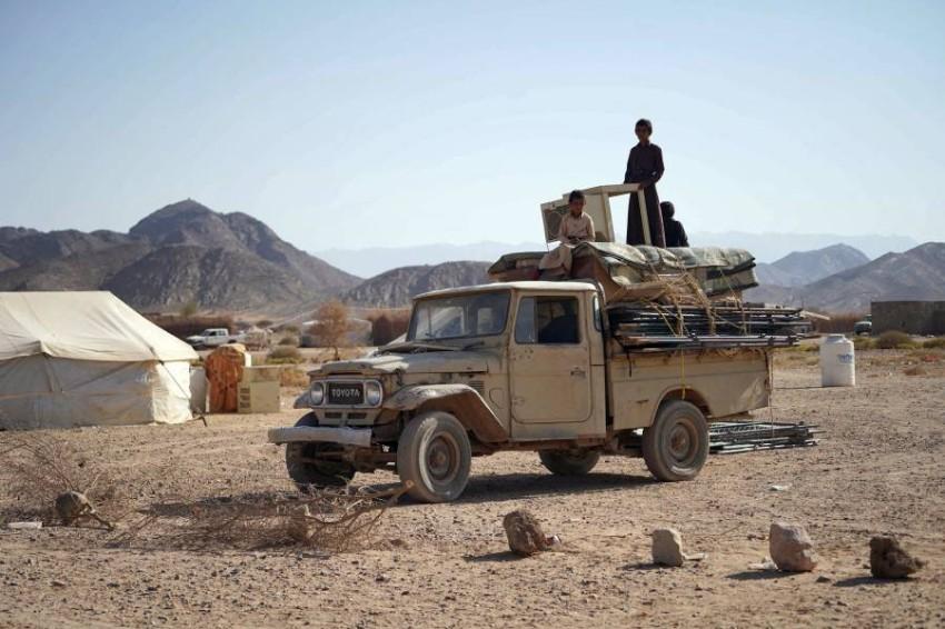 الحكومة اليمنية تدعو إلى التدخل لإنقاذ حياة المدنيين في مأرب - أ ف ب.