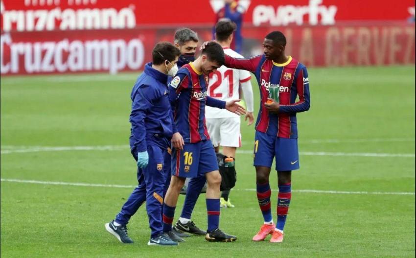 إصابة بيدري. (الموقع الرسمي لنادي برشلونة)
